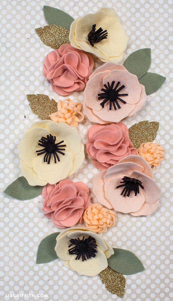 DIY Felt Flower Poms