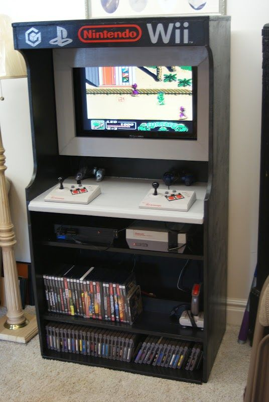 Arcade {Video Game} Center I love creative set ups for game rooms. This is pretty awesome.