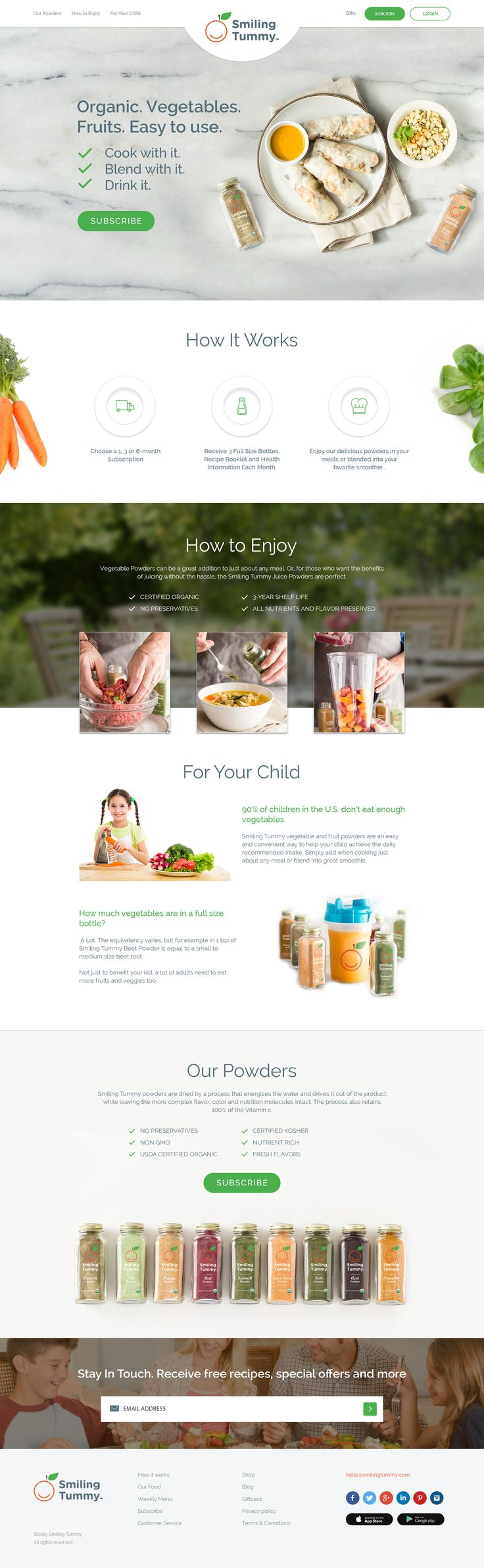 Smiling tummy web design