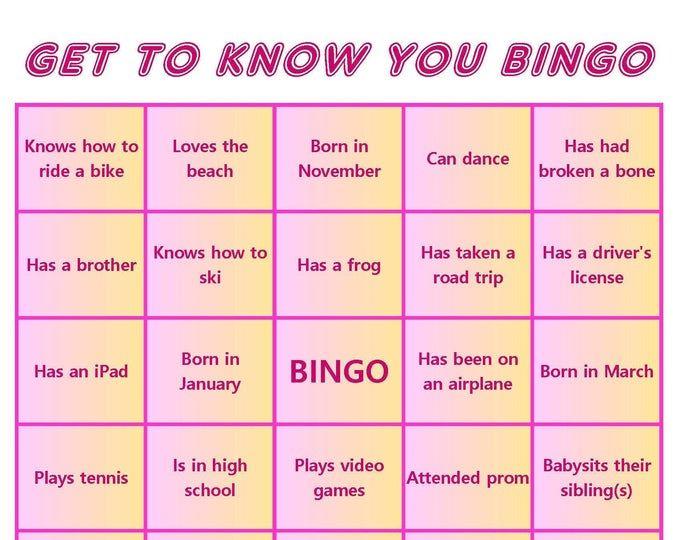 Family Reunion Bingo Cards Mix Mingle Style Bingo Instant Download 40 Cards Family Reunion Bingo Bingo Cards Bingo
