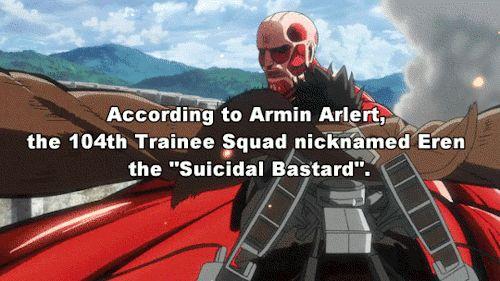 Shingeki no Kyojin facts. I can see why.