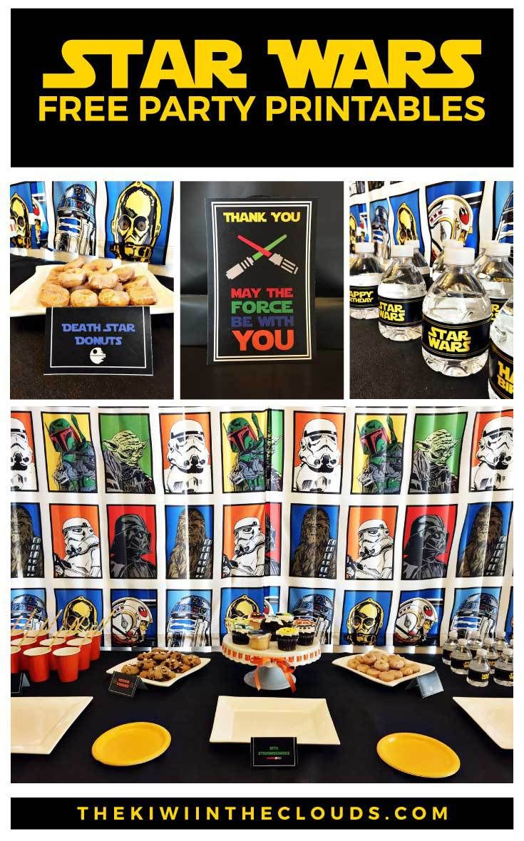 Star Wars Birthday FREE Printables | Click through to download the entire set of Star Wars party printables for you little Jedi master.