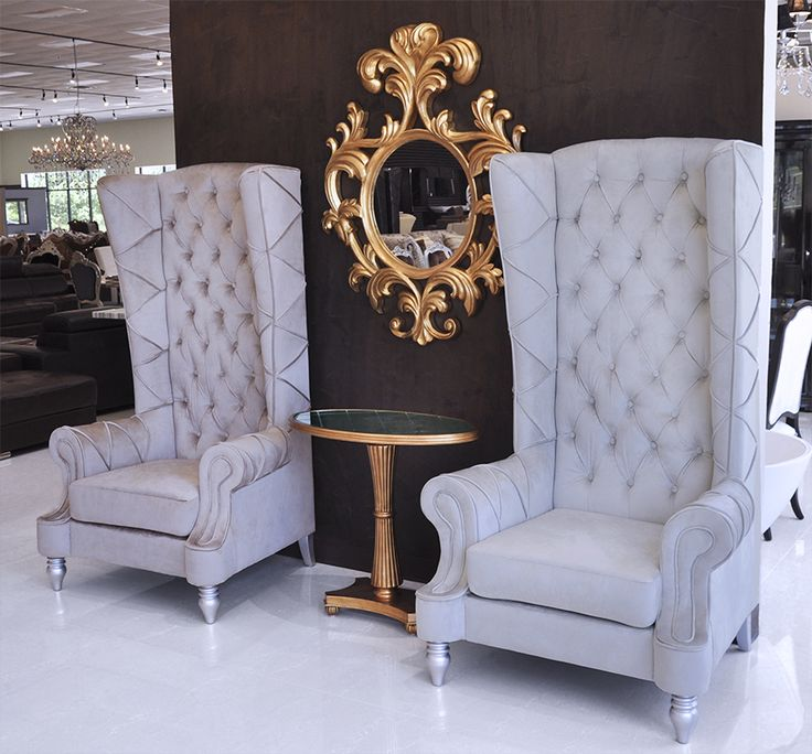 baroque high back chair - High Back Chairs For Living Room