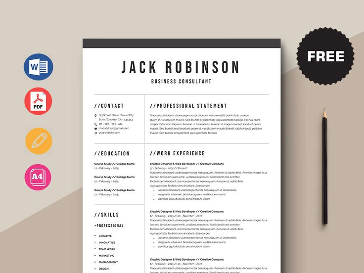 Free business consultant resume template resume template