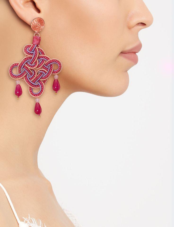 Rombo earrings Anna e Alex passementerie workmanship also available @avenue32