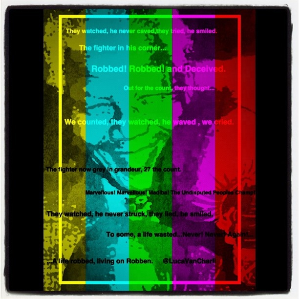 Setting a poem I wrote for #NelsonMandela on a picture I creatively played with. #Madiba @LucaVanCharli