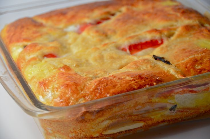 Italian Layer Bake  Cold-cuts and cheese are layered between crescent roll dough then baked until the cheese gets all melty.