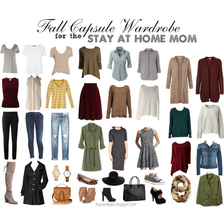 A fall capsule wardrobe for a stay at home mom.