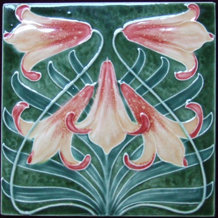 Art Deco Lily Tile