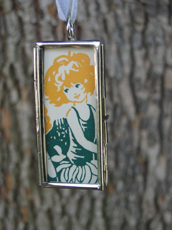 Daisy Girl Pendant Flower Fairy Necklace Summer by OneSmallStory, $14.00