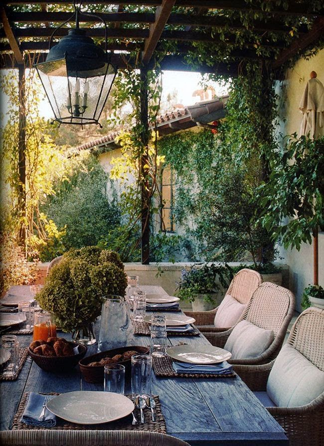 Beautiful outdoor covered dining