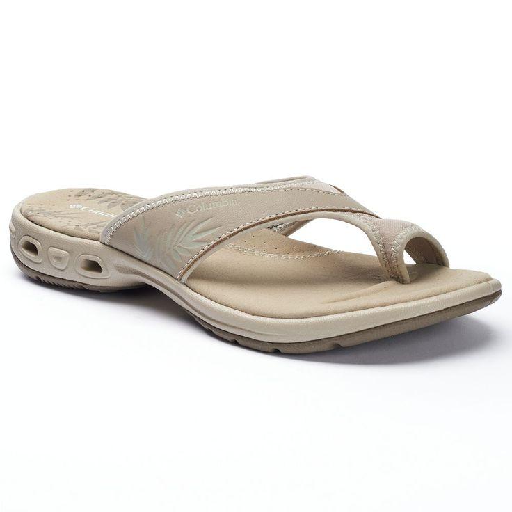 Columbia Kea Women's Flip-Flops, Size: 11, Lt Beige