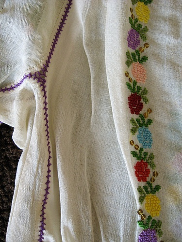 romanian blouse detail by jodigreen, via Flickr