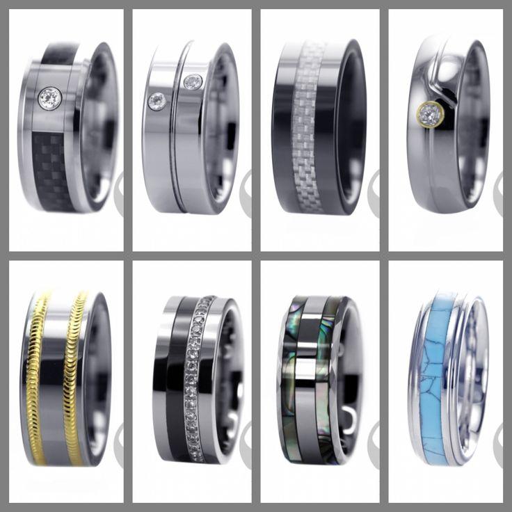 Mens Tungsten rings www.vipfashion.ca  #fashion #men #jewellery #rings