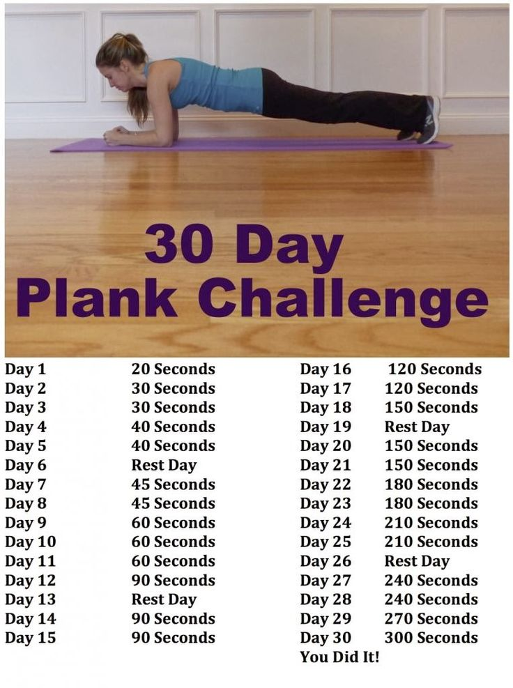 30 Day Plank Challenge for Beginners  Great way to get your mid section into shape before conception and beyond | Mommy Dreaming...