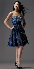 sequins on navy blue