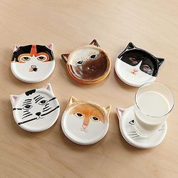 Ceramic Cat Coasters