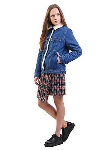 2a93fc851e8 DASTI Women s Warm Jeans Jacket Wool Lined Womens Denim