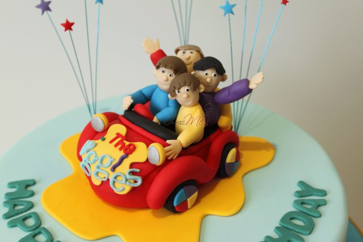 Cake Me! — Fondant topper of Wiggle's Big Red Car