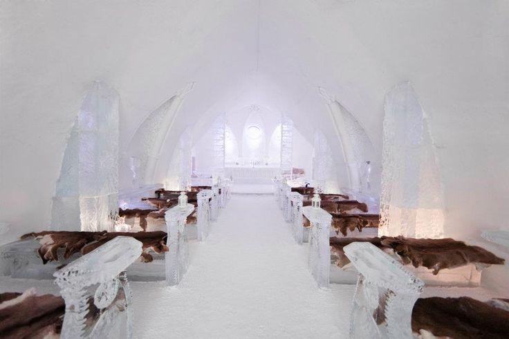 Photo: White Photographie #WinterWedding #HoteldeGlace #IceHotel #QuebecCity #Canada  elisabethb.com