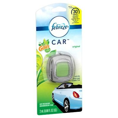 Febreze Car Gain Original Scent Air Freshener Vent Clip,