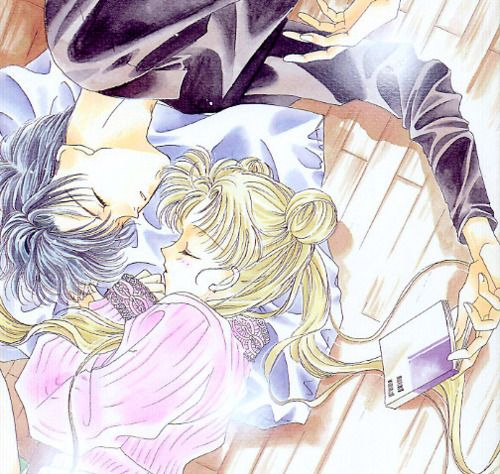 Usagi and Mamoru (AKA serena and darien) (sailor moon and tuxedo mask)
