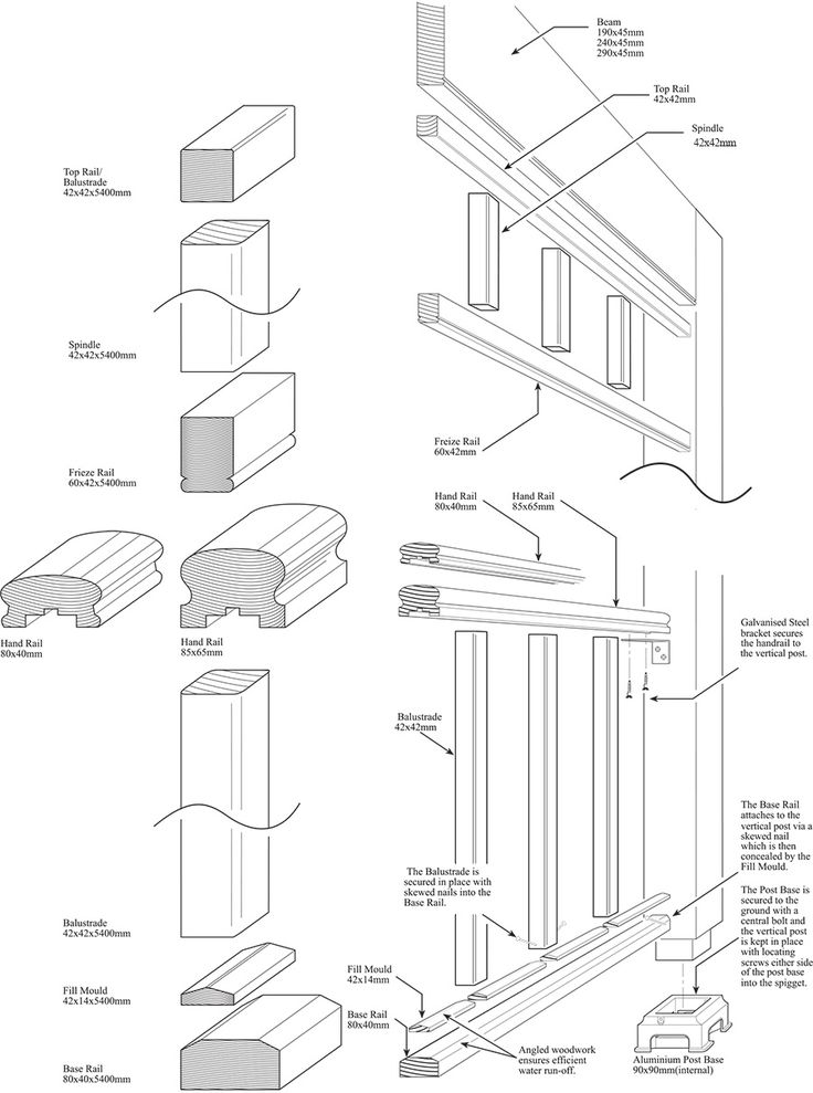 stair timber balustrade details - Google Search