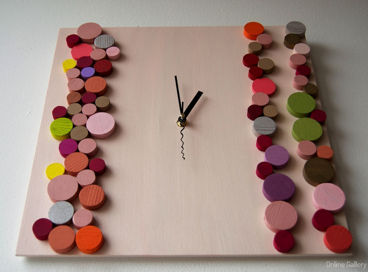 Ceas decorativ din lemn Candy-1