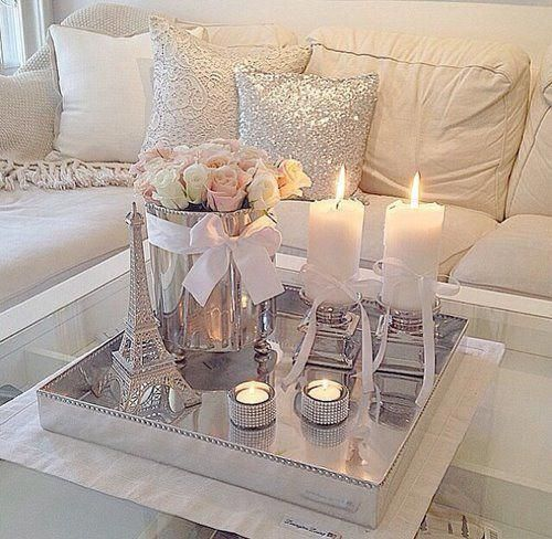 home decor ideas – living room color scheme – soft, warm and simple decoration ideas – pink, silver, gold, and creme colored home decor – interior des…
