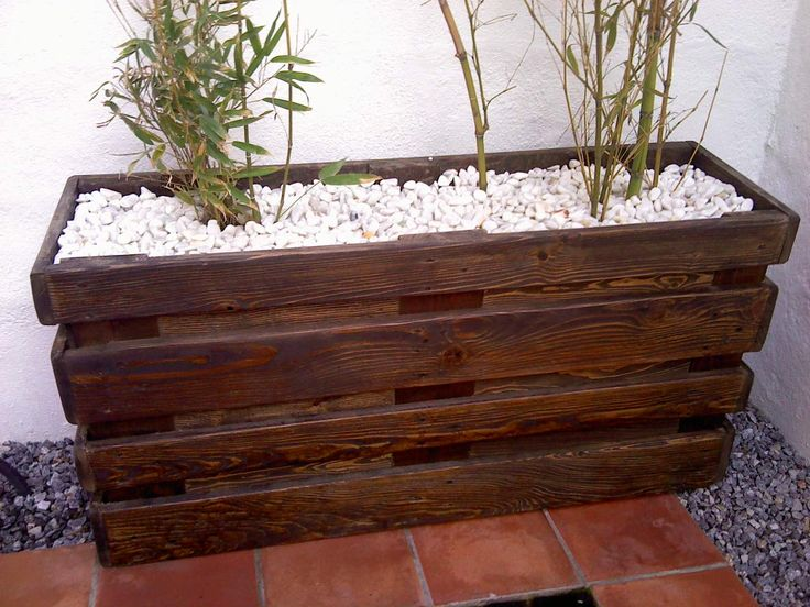 M s de 25 ideas incre bles sobre macetero de madera en for Maceteros de madera para interior
