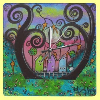 Love Thy Neighbor Wall Clcok Wall Clock by juliryan