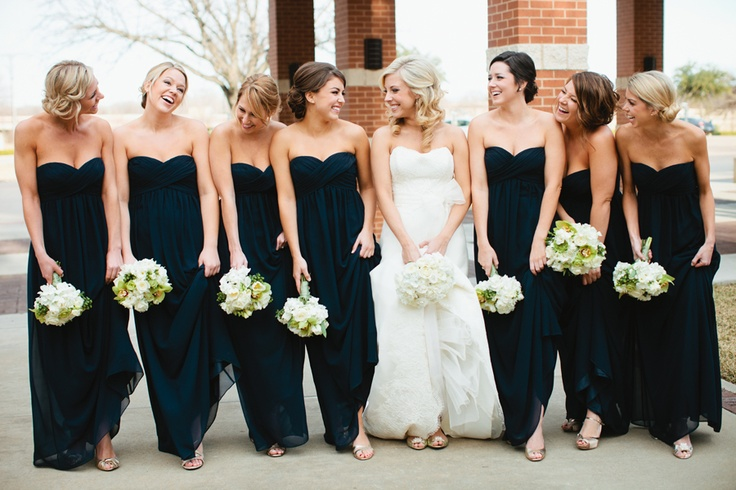 Navy blue bridesmaid dresses.Navy Bridesmaid, Blue Bridesmaid