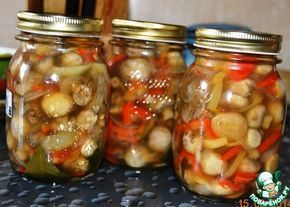 Салат из шампиньонов с перцем на зиму - кулинарный рецепт