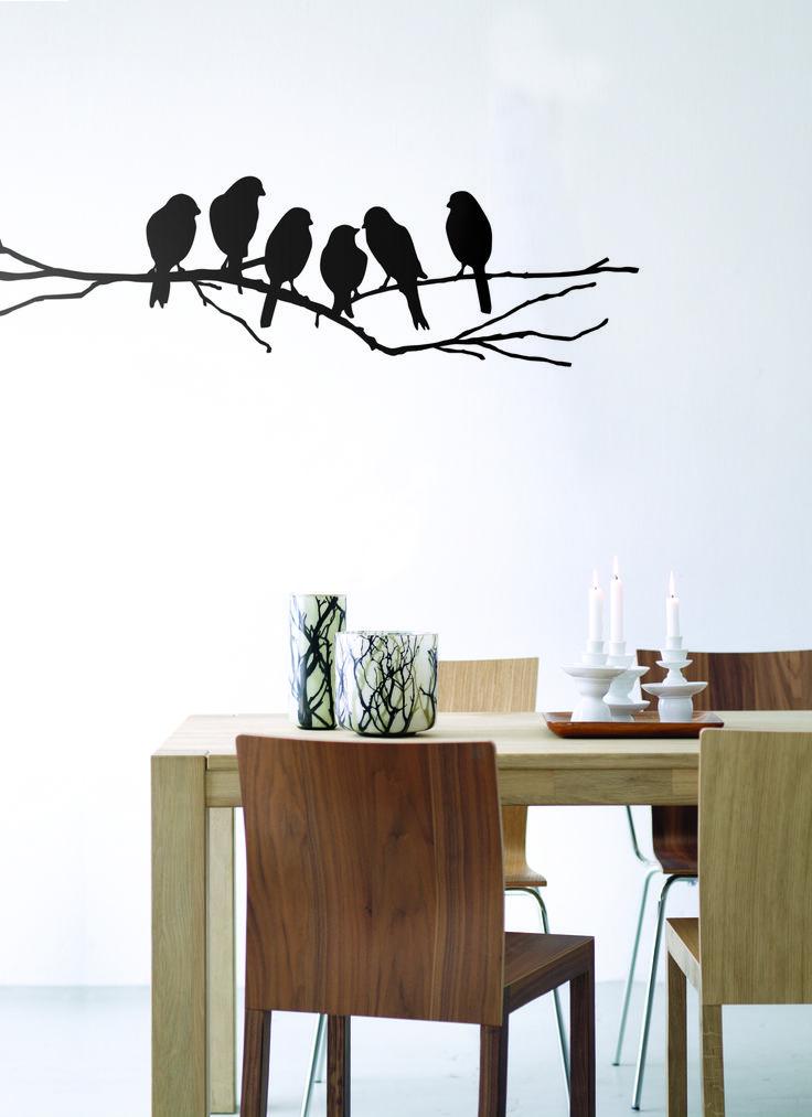 """Tierisch auch an der Wand. Die Wanddekoration """"lovebirds"""" bringen Natürlichkeit und gute Laune in jeden Raum."""