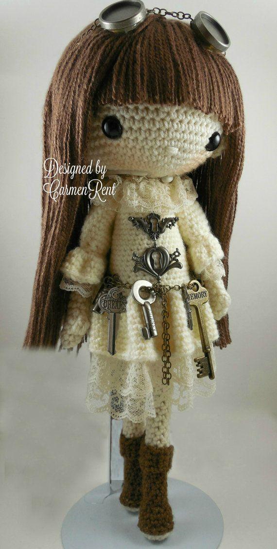 Antonia-Steampunk-Amigurumi Doll Crochet Pattern PDF by CarmenRent