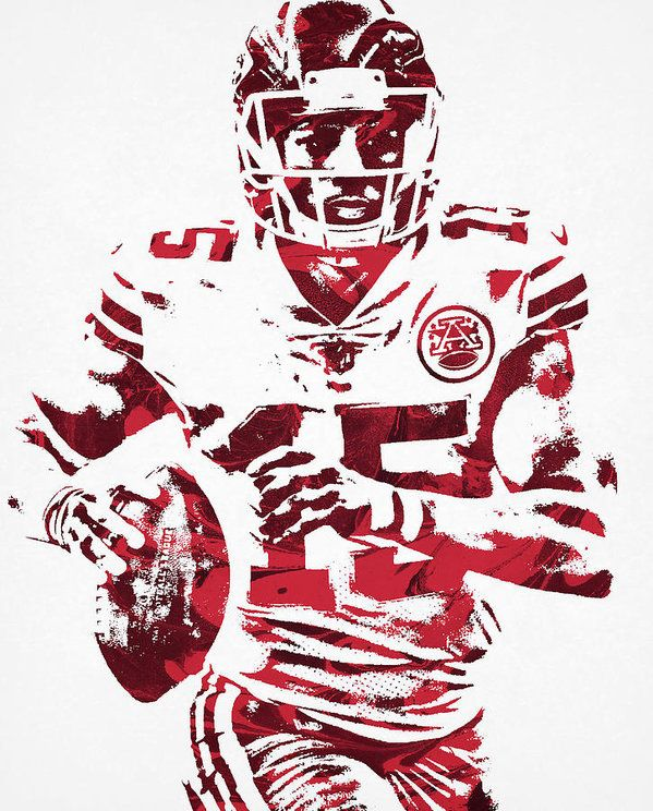 Patrick Mahomes Kansas City Chiefs Water Color Pixel Art 30 Art Print By Joe Hamilton Kansas City Chiefs Kansas City Nfl Nfl Kansas City Chiefs