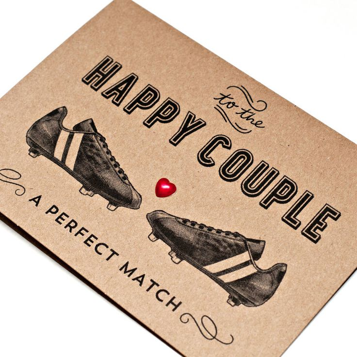 football themed wedding card by papergravy | notonthehighstreet.com