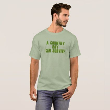 A Country Boy Can Survive T-Shirt - boy gifts gift ideas diy unique