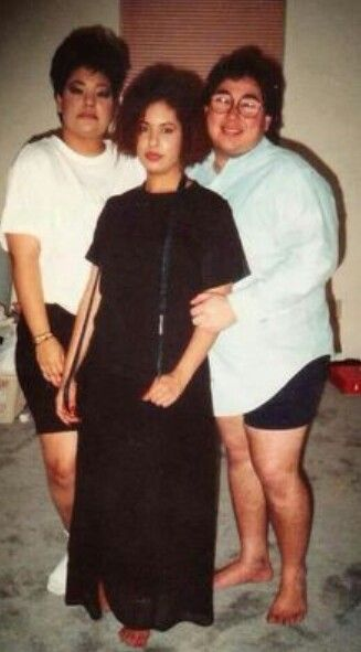 Selena Quintanilla and her family.