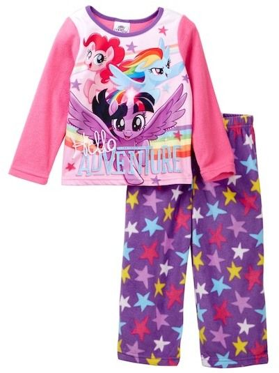 AME My Little Pony Hello Adventure Fleece Pajama Set (Little Girls & Big Girls)