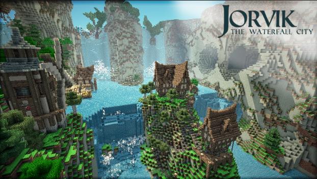 Minecraft Jorvik The Waterfall Village Map