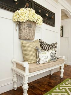 27 Cozy And Simple Farmhouse Entryway Décor Ideas - Coat rack utilizing old drawer fronts