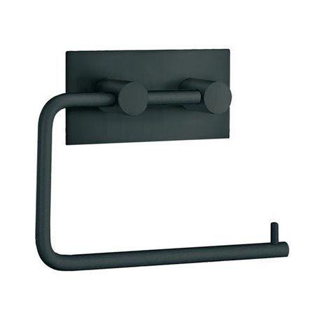 Smedbo Beslagsboden Wall Mounted Toilet Paper Holder - Black Matt - BB1098