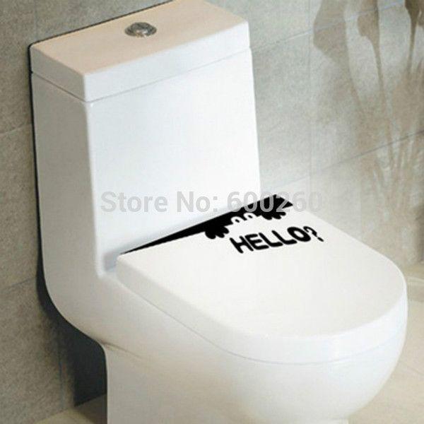 Pas cher Toilettes de vente chaude monstre bonjour salle de bain Decal drôle créative vinyle autocollant air mural drôle livraison gratuite, Acheter  Autocollants muraux de qualité directement des fournisseurs de Chine:                    Ventes chaudes toilettes monstre Bonjour salle de bains décalque drôle Creative vinyle autocollant d
