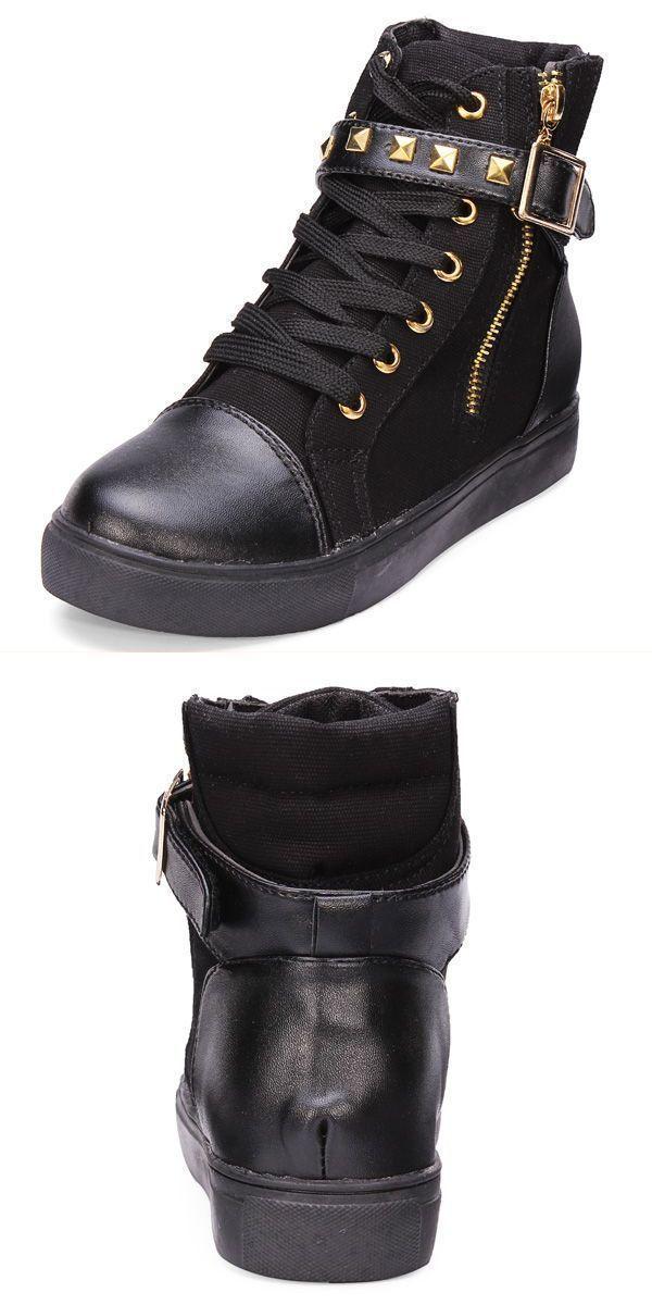 Egoss casual shoes side zipper buckle