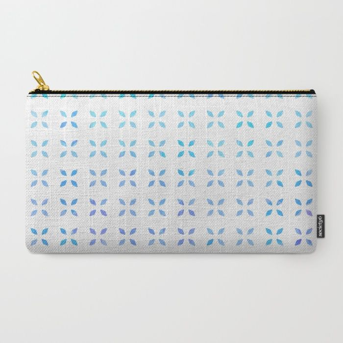 Blue diamond pattern Carry-All Pouch