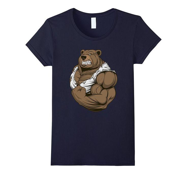 Muscle Bear Tshirt   Mr Bear Tshirt   Father's Day Tshirt
