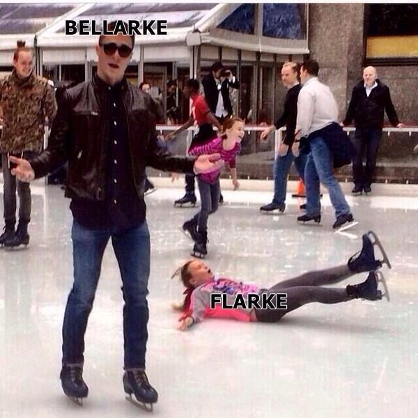 Lol Sorry Flarke shippers but this is so funny :D II The 100 ships: Bellarke (Bellamy Blake and Clarke Griffin) and Flarke (Finn Collins and Clarke Griffin)