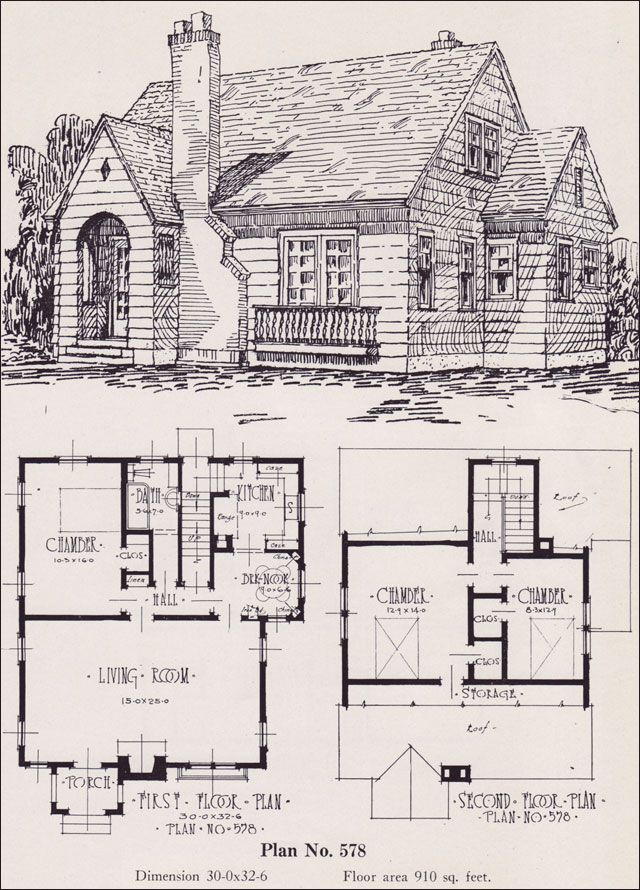 Charming cottage with fireplace plans for 00 square foot for Charming cottage house plans