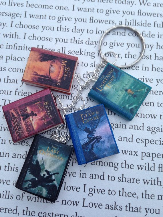 Percy Jackson book charm bracelet/keychain  im looking for keychains so this is the start of something big.